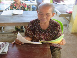 Sustainable development projects are adapting to Covid: After almost 50 years without formal education, Semly is now helping her grandchildren with their homework